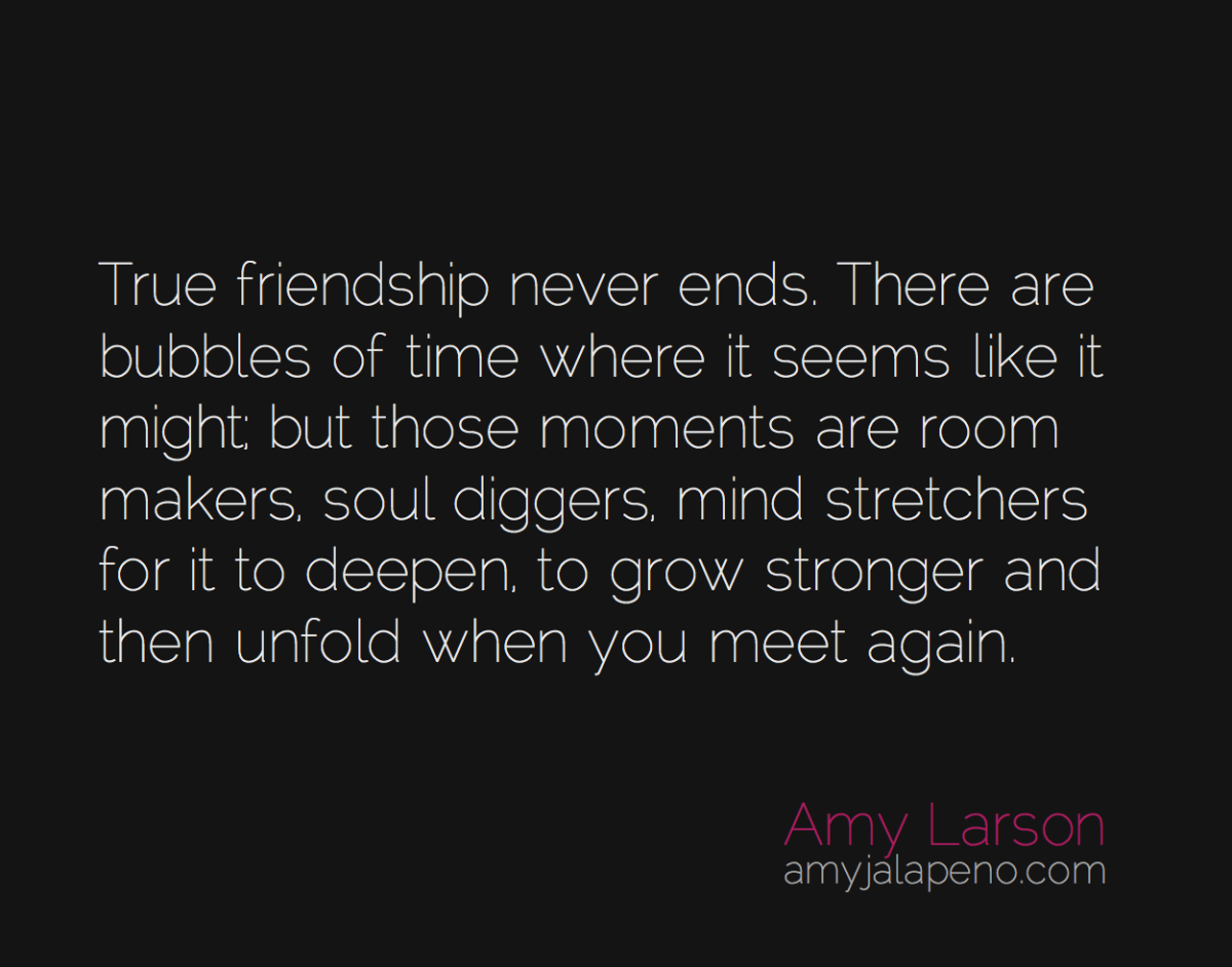 do true friendships really end? (daily hot! quote)