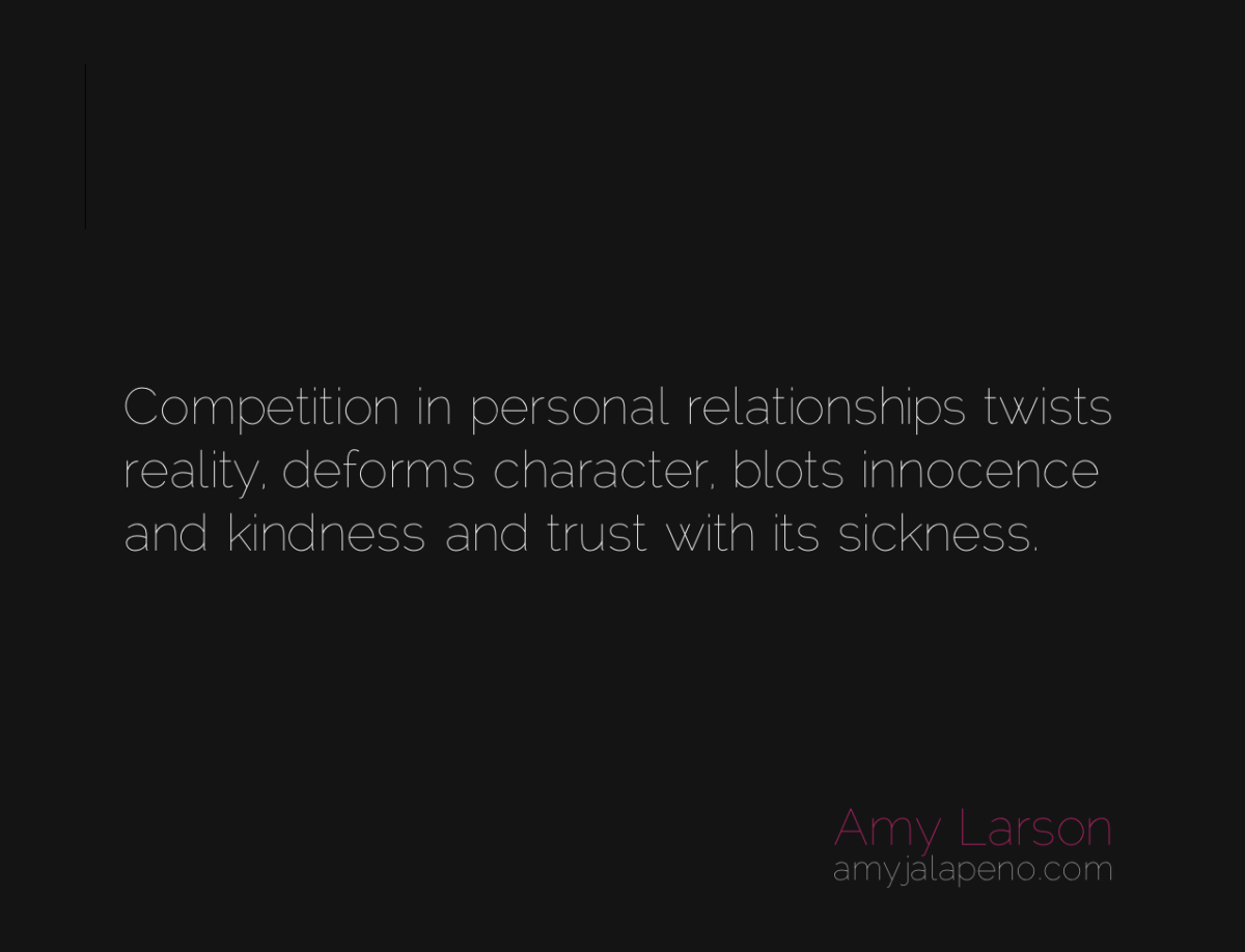 how important is competition in relationships? (daily hot! quote)