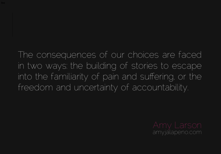 consequences-choice-relationships-accountability-freedom-uncertainty-suffering-pain-stories-escape-amyjalapeno-dailyhotquote