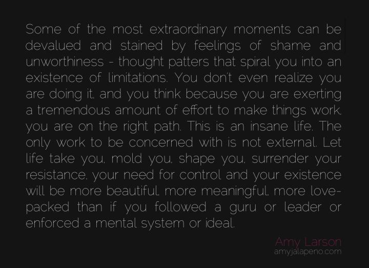 shame-unworthiness-limitations-authentic-living-insanity-effort-surrender-life-love-beauty-meaning-guru-leader-inner-self-reliance-freedom-amyjalapeno-amylarson-dailyhotquote